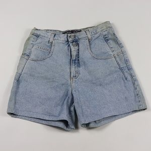 Vintage Guess Distressed Denim Jean Shorts Blue 30